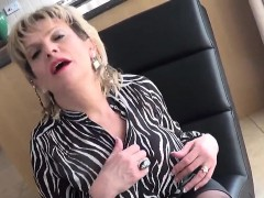 Unfaithful british milf lady sonia showcases her monster mel