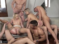 Anal, Blonde, Européenne, Groupe, Hd, Jarretelles