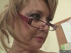 Office Dame Blows off and moreover Gets Nailed At The Table