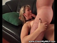 Check My MILF giving deep throat head to my buddy from work