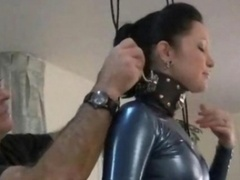 Rude Discipline For Broad In Fetish Latex