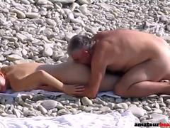 Young nudist wife fucked on public beach
