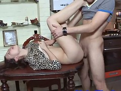cuckolding babe banged in front of bf