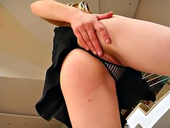 busty blonde's fucked up her tight ass