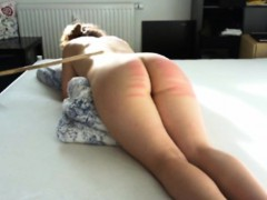 Hard caning lessons for slave Lena