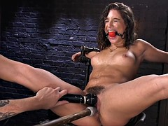 Hairy cunt slave whipped and toyed