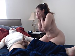 Glammed up MILFs pose and get dicked on camera