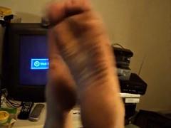 dirty gymnast wrinkled soles