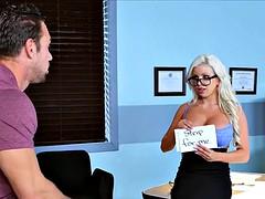 Big Tit Blonde Eye Exam
