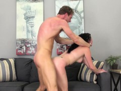 Awesome Veruca James gets pumped and a load in her mouth on cam