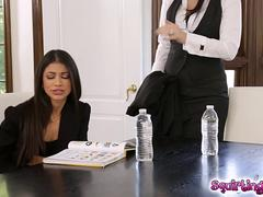 Veronica Rodriguez licking her teacher Jelena Jensens pussy