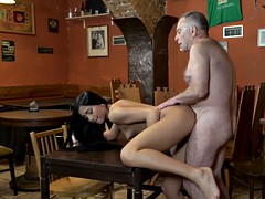 daddy4k. old man with boner penetrates attractive girl