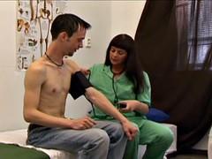 Boy medical examination for a beginner