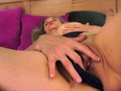 Curvy grandma facialized after sex