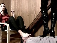 Domination, Pieds, Femelle, Chaussures