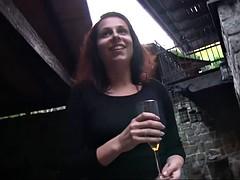 slut fucked in public