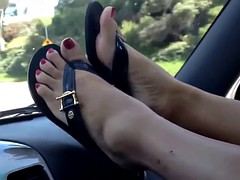 Pedal pumping pretty feet of my Asian