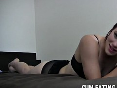 i have a surprise for my dirty little cum eater cei