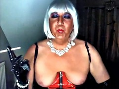 Chrissie smoking in pvc 120 pt16