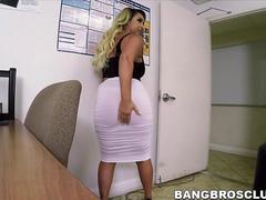Sexy blonde Serbian with a round ass gets an anal surprise