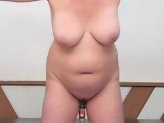Standing machine fuck