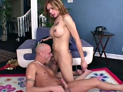 big tits shemale blowjob deep throat while playing your penis