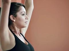 Busty trainer Khloe Terae yoga session