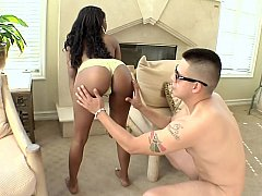 Black girl ready to get down and dirty