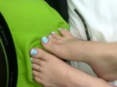 Hot teen burnette foot fetish
