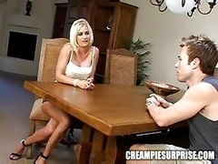 Sticky creampie Surprise - Lauren Kain
