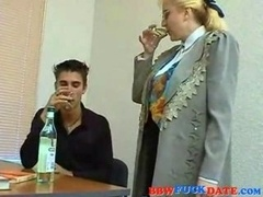 Curvy collage teacher enticing slender student and additionally gets big facial cumshot load