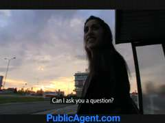 PublicAgent Inexperienced Asian assfuck lovemaking outside on the car