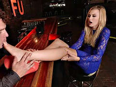 alexa grace fucks a feet loving bartender to get a job as a waitress