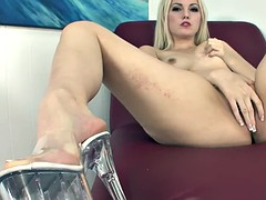 Footsie Blonde In Kinky Action