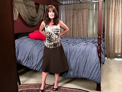 Granny Shelby Ray masturbating with objects
