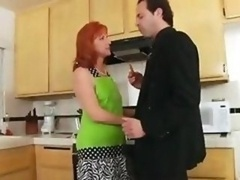 Unshaved love hole in the kitchen
