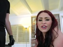 Loser hubby watches a burglar fuck his gorgeous wife