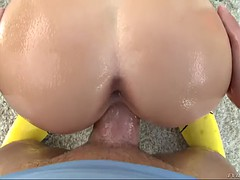 luxurious blonde slut bailey brooks works her hot pussy on huge dick
