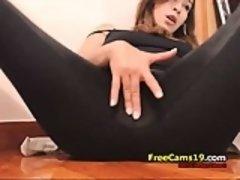 Amateur, Morena, Masturbación, Solo, Camara web
