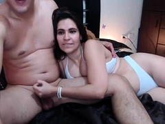 Deep blowjob from a BBW amateur housewife