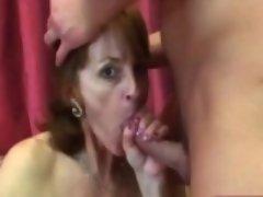 Big tits granny Ivet fucking sucking big schlong