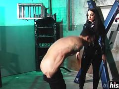 Cybill Troy tortures her slave boy