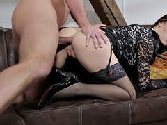 victoria daniels wears stockings while being fucked