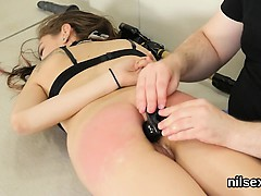 Wicked nympho was brought in ass hole nuthouse for painful t