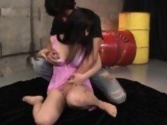 Chiharu fantastic blowbang Japanese porn scenes