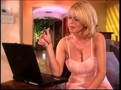 hot big tits blonde have an intercourse hard at the kitchen