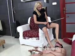 Lady Zsi Spit & Piss On Her Slave
