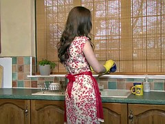 Housewife Masturbates In The Kitchen