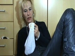 Mature With Soggy Honey pot And Stinky Panties.