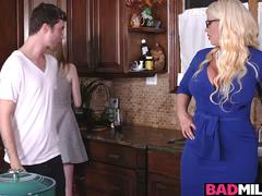 Hot boyfriend fucked Dolly and Alura in the kitchen